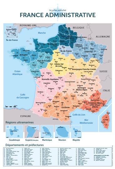 France administrative - Les Jolies Planches