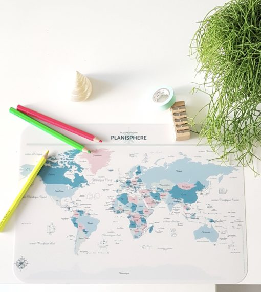 Planisphère, carte du monde