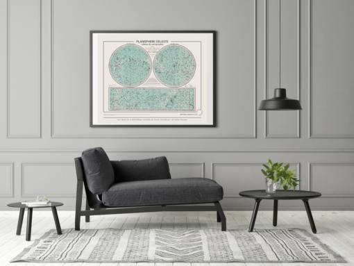L'affiche Planisphère céleste décoratif