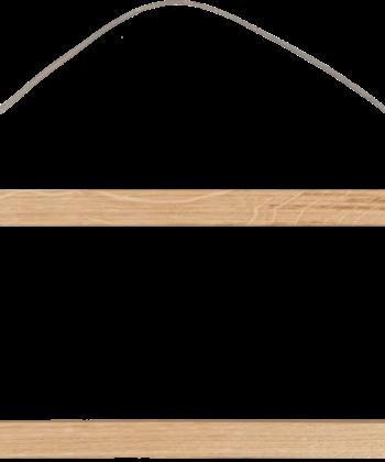 baguettes de suspension en bois, vendues par Les Jolies Planches pour accrocher les toiles