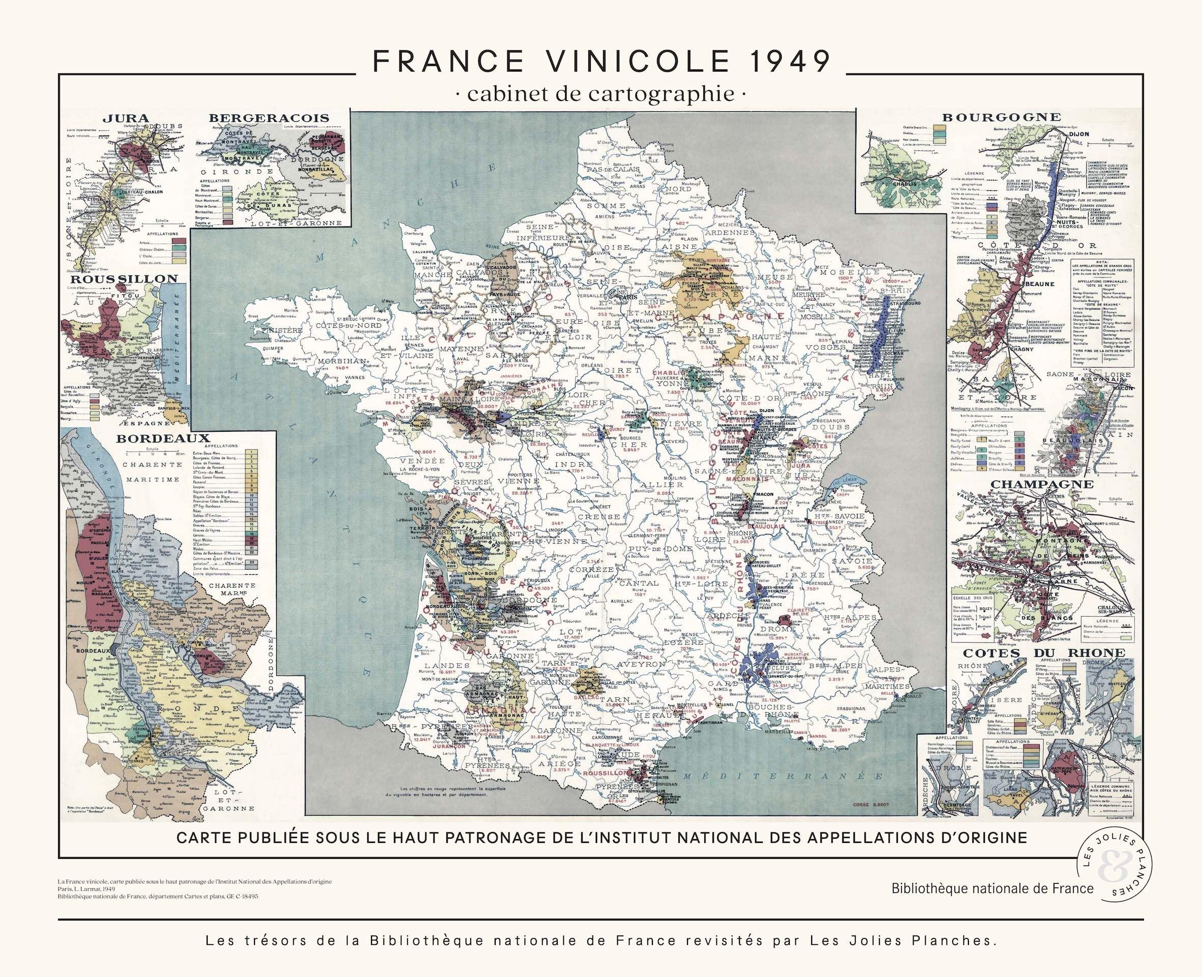 Carte De France Vinicole Les Jolies Planches
