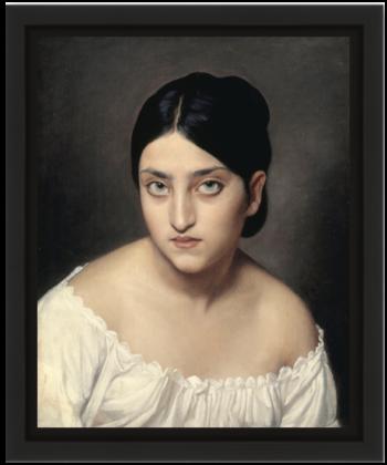 Portrait d'Hortense Cornu par Sébastien-Melchior Cornu, 19ème siècle Réunion des Musées Nationaux